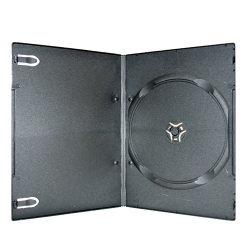 4mm Ultra Slim Single Black DVD Case