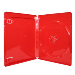 PS3 / Blu-Ray 14mm Single Red Blu-Ray DVD Case