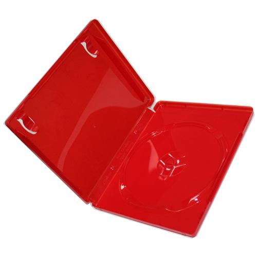 ps3 blu ray 14mm single red blu ray dvd case