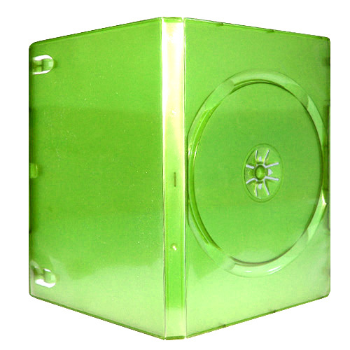 14mm Single Green Xbox Dvd Cases With Insert Tabs
