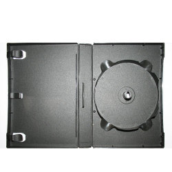 27mm 12 Disc Stackable Black DVD Case - 1 Hub Stackable Up To 12 Discs