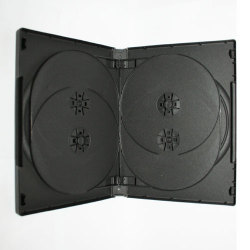 22mm 6 Disc Black DVD Case With 2 Trays