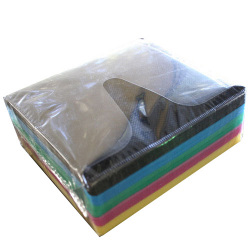 Double Sided Multi Color CD DVD Refill Sleeves (Black, Blue,Green, Pink and Yellow) Holds 2 Discs