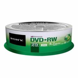 4X DVD+RW Media 25 Pack in Cake Box (25DPW47RS2)