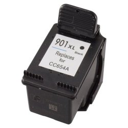 HP 901XL (CC654AN) Remanufactured High Capacity Black Inkjet Cartridge