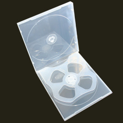 10.4mm 4 Disc PP Poly Case Clear With 1 Tray With Full Outer Sleeve For Inserts