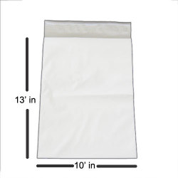 "Premium 10 x 13"" White Poly Mailer - 2.5 mils Thickness"