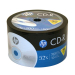 HP Logo Branded 52X CD-R Blank Media Discs