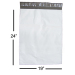 Premium White Poly Mailer 19 x 24 Inches - 2.5 mil thickness
