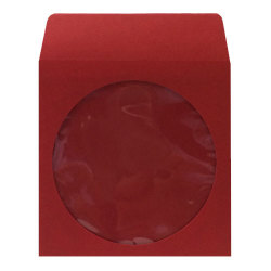 Dark Red CD DVD Sleeves with Clear Window