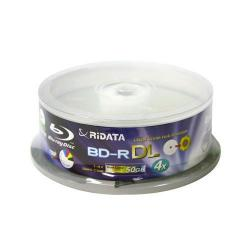 Ritek Ridata 50GB Blu-Ray Dual Layer White Inkjet Hub Printable 6X BD-R Media