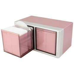 120 Capacity 1 Touch CD/DVD Drawer Included Sleeves - Metallic Pink