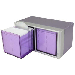 120 Capacity 1 Touch CD/DVD Drawer Included Sleeves - Metallic Purple