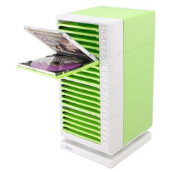 One Touch Swivel CD Rack – Green