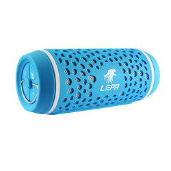 BTS02-BL Bluetooth Speaker with NFC Function, 360 Degree Sound, Built-in Microphone (Blue)