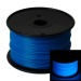 Glow in the Dark Blue 3D Printing 1.75mm PLA Filament Roll – 1 kg
