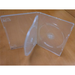 14mm Super Clear 3 Disc DVD Case with 1 Flip Tray
