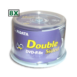 Ridata 9.4GB 8X Double-Sided DVD-R in Cake Box