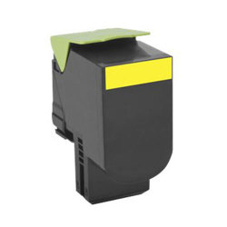 Lexmark 80C1SY0 Premium Compatible Yellow Toner Cartridge