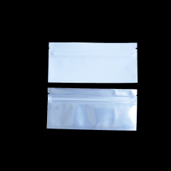 Pre-Roll White Barrier Bags With Clear Front, White Back, Silver Metalized Interior