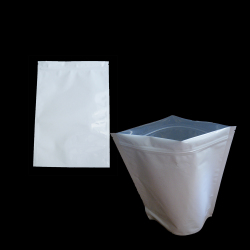 One Ounce / 28 Gram White Barrier Bags All White With Silver Metalized Interior