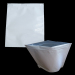16 Ounces (1 LB) White Barrier Bags All White With Silver Metalized Interior