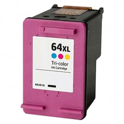 HP N9J91AN / HP 64XL Remanufactured High Yield Color Ink Cartridge
