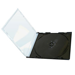 5mm Single Slim CD Jewel Case with Black Tray