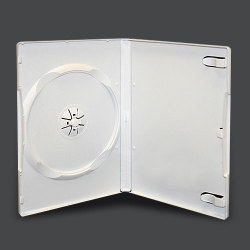 14mm White Standard Single DVD Case