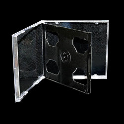 10.4mm Standard Double Black CD Jewel Case