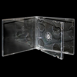 Premium Grade 10.4mm Double Crystal Clear Jewel Case with Clear Tray - 100% New Material