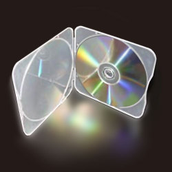 4mm Clam Shell Clear Square Dura CD DVD Disc Saver