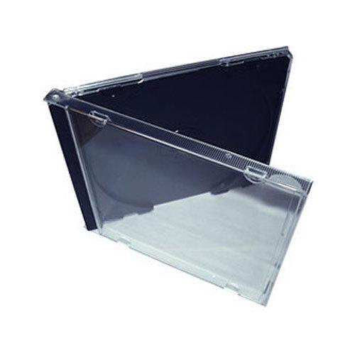 10 4mm standard single black tray assembled cd jewel case
