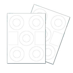 40mm Matte Laser / Inkjet Mini CD DVD Labels