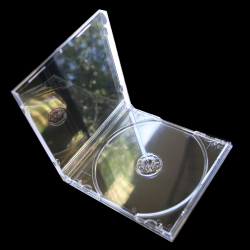 10.4mm Standard Crystal Clear Single CD Jewel Case with Clear Tray
