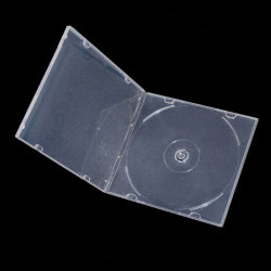5.2mm Slim Single Clear PP Poly CD DVD Cases without Outer Sleeves
