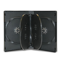 27mm Black CD/DVD Case - 6 Discs with 2 Trays