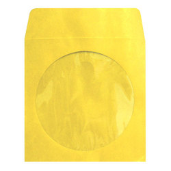 Yellow CD/DVD Sleeves with Clear Window