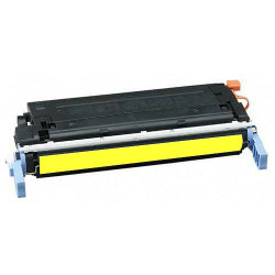 HP C9722A Premium Remanufactured Yellow Toner with New Drum