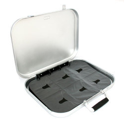 180 Capacity CD/DVD Portable Briefcase Included Sleeves