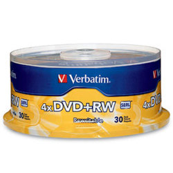 4X DVD+RW Rewritable Media in Cake Box