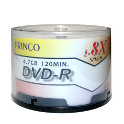 8X DVD-R Blank Media in 50 Cake Box