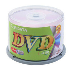 Ridata White Inkjet Printable Super Grade 16X DVD+R Blank DVD Plus R Media Discs in Cake Box
