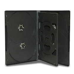 14mm Standard Black CD/ DVD Case (6 Discs with 1 Tray)
