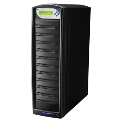 1 To 10 Target Duplicator with Plextor 24X DVD-R/+R, 12x DVD-R DL, 8x DVD+R DL Burner and 320GB Hard Drive