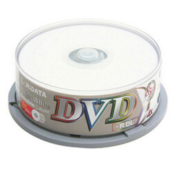 Ridata White Inkjet Printable 8.5GB Dual Layer DL 4X DVD-R Media in Cake Box