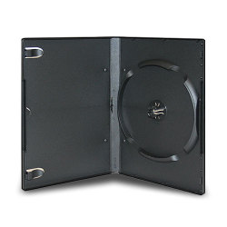 14mm Standard Black Stackable DVD Case (6 Discs)