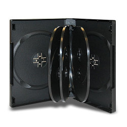 27mm 8 Disc Black CD/DVD Case with 3 Trays