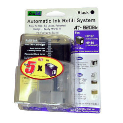 """""""HP 21, 21XL, 27, 56, 60, 60XL, 74, 74XL, 92, 94, 96, 98, 901 and 901XL Automatic Refill Black Ink System"""""""
