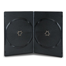 5mm Super Slim Double Black DVD Cases
